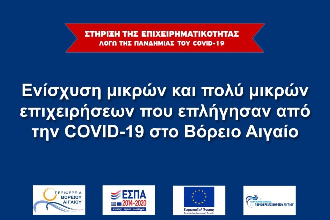 Στήριξη της επιχειρηματικότητας λόγω της πανδημίας του covid-19 στο Βόρειο Αιγαίο: Όλες οι πληροφορίες